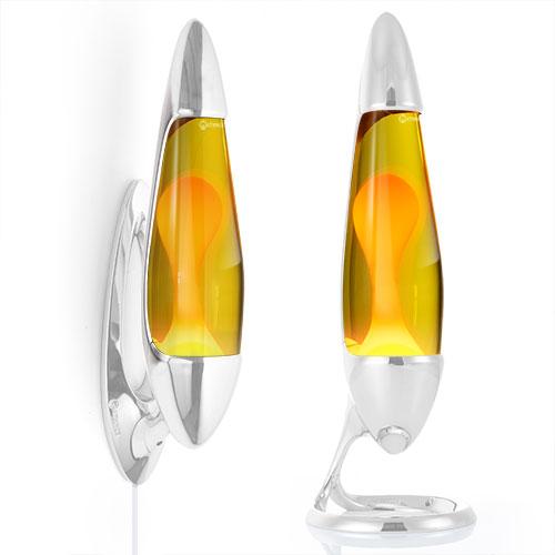 Neo Lava lamp bottle - Yellow with Orange Lava - free shipping